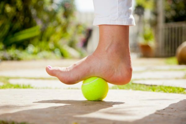 feet tennis ball